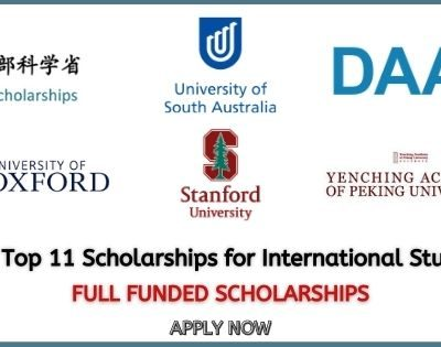 List of Top 11 Scholarships for International Students 2021