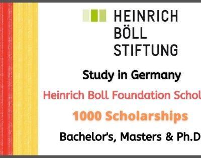 Heinrich Boll Foundation Scholarship 2021