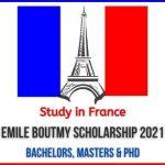 Emile Boutmy Scholarship 2021
