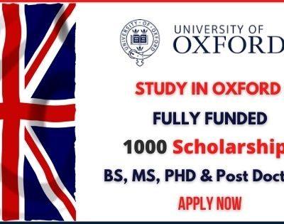 Reach Oxford Scholarships 2021