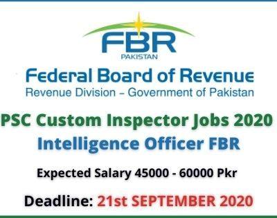 FPSC Custom Inspector Jobs 2020