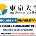 University of Tokyo Scholarship 2021