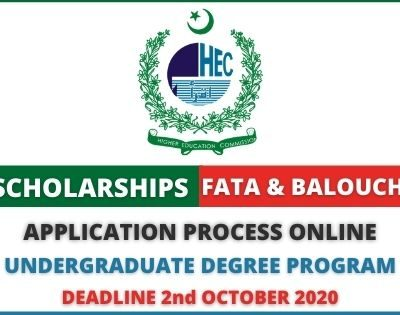 HEC Scholarships for FATA & Balochistan 2020