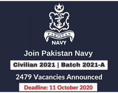 Join Pak Navy as Civilian 2021