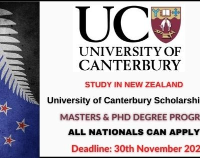 University of Canterbury Scholarships 2021