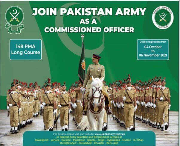 Join Pak Army PMA 149 LC Advertisement